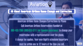 american airlines name change``